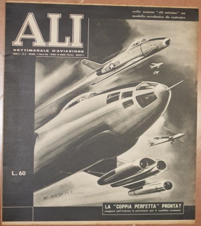 ALI SETTIMANALE D'AVIAZIONE ANNO II - N. 8 MILANO - 5 MARZO 1952<BR>