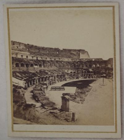 INTERNO DEL COLOSSEO (ROMA) FRATELLI D'ALESSANDRI VIA DEL BABUINO ROMA