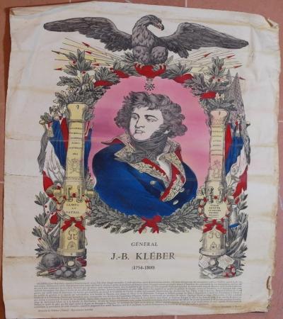 GENERAL J. B. KLEBER (1754-1800) IMAGERIE PELLEGRIN A EPINAL