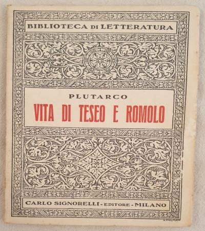 VITA DI TESEO E ROMOLO