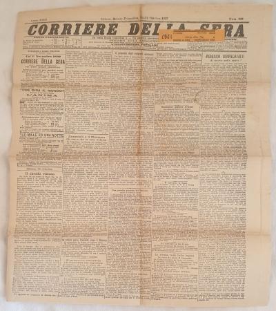 CORRIERE DELLA SERA MILANO SABATO DOMENICA 30-31 OTTOBRE 1897